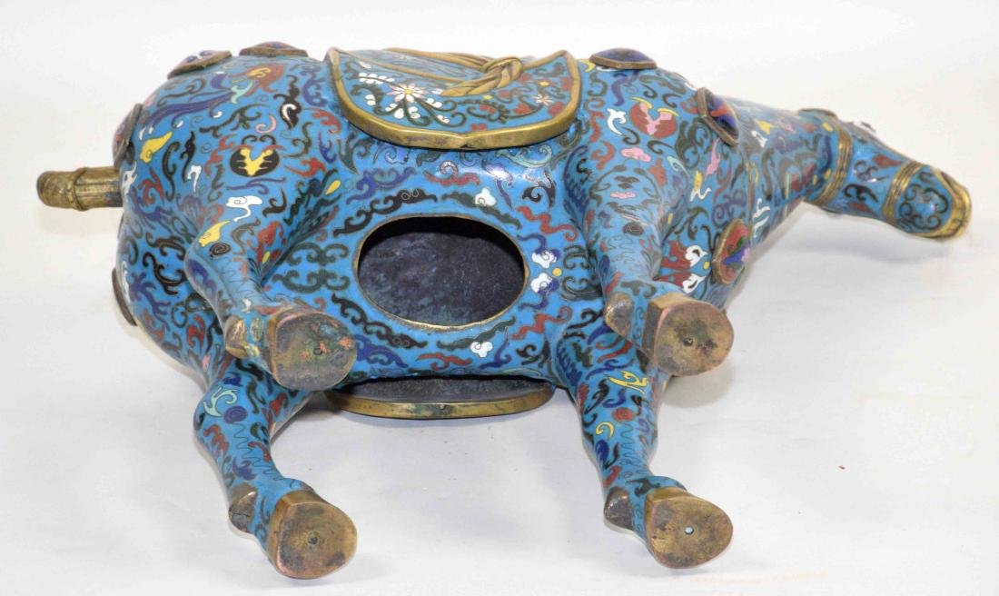 CHINESE CLOISONNE HORSE. 22''L X 7''W x 20.5''H. - 4