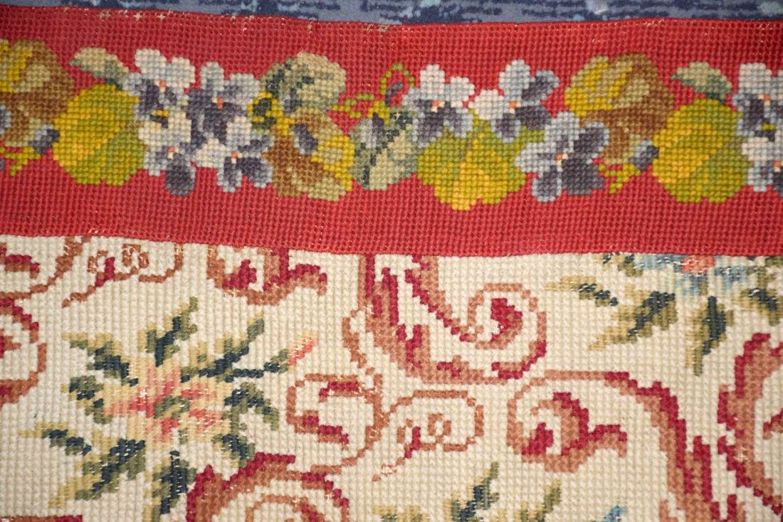 NEEDLEPOINT RUG. 67''L x 36''W. Provenance: Mail Pouch - 3