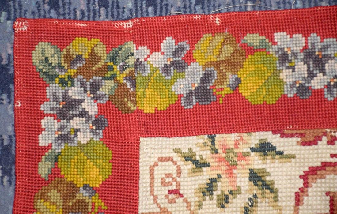 NEEDLEPOINT RUG. 67''L x 36''W. Provenance: Mail Pouch - 4