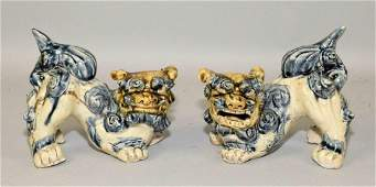PAIR OF CHINESE FOO DOGS. 6''H x 6''L.
