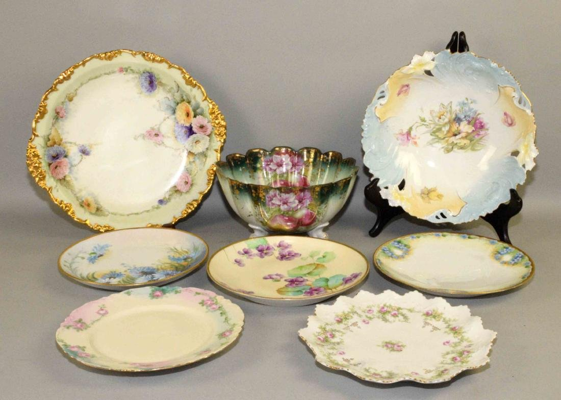 GROUP OF (8) ASSORTED PLATES AND BOWLS. Charger (J.P.