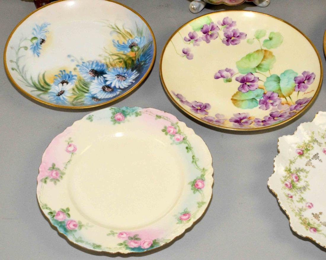GROUP OF (8) ASSORTED PLATES AND BOWLS. Charger (J.P. - 5