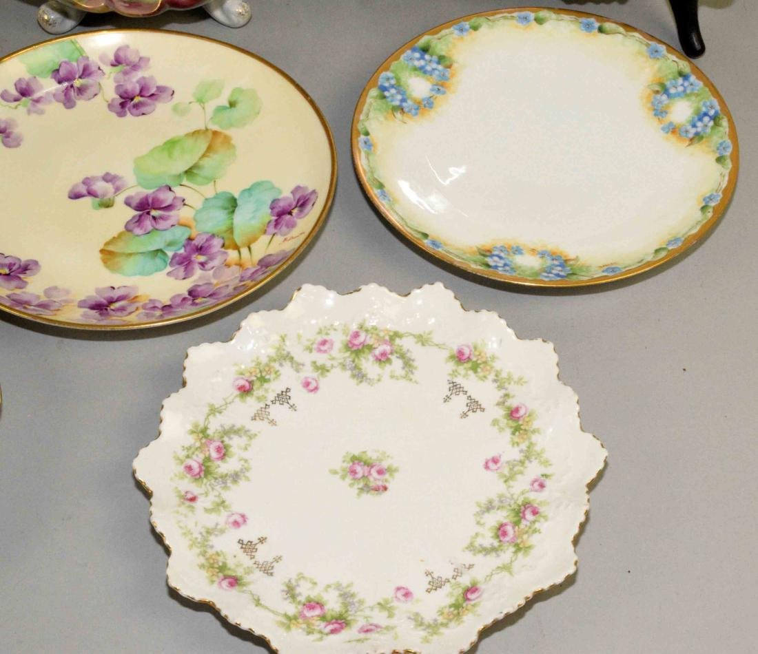 GROUP OF (8) ASSORTED PLATES AND BOWLS. Charger (J.P. - 6