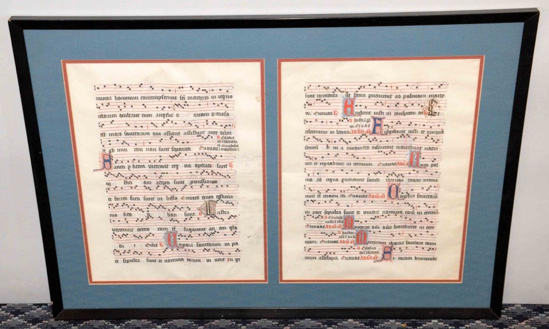 HAND PAINTED DOUBLE SIDED, GREGORIAN CHANT ON