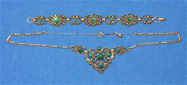 (2) PIECE VINTAGE CORO JEWELRY SET, necklace and