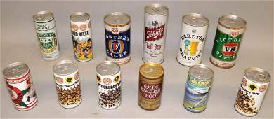 COLLECTION OF ASSORTED BEER CANS 60 total
