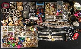 1500: ASSORTED COSTUME JEWELRY. Lot includes numerous e