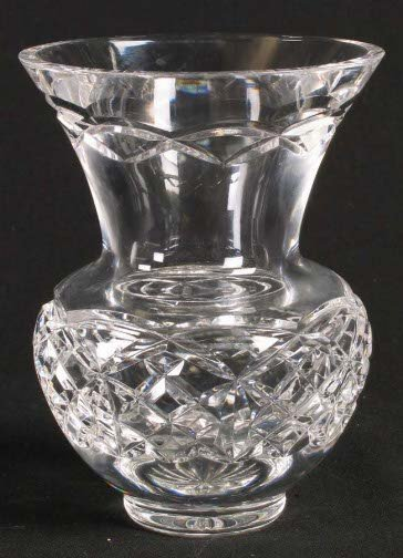 1573: WATERFORD VASE. Urn shaped vase, low bulbous body