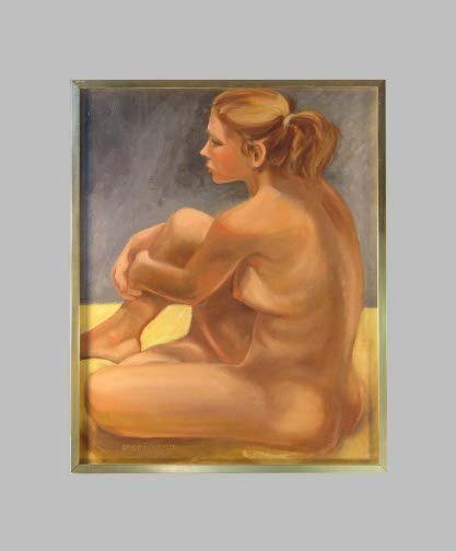 1584: CALABRESE NUDE BLONDE MODEL.  Dated 1981.  Oil on