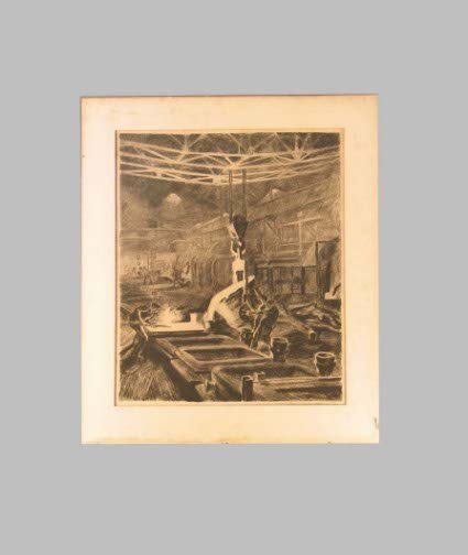 1588: TURNER ETCHING OF A MILL.  Dated 1927 (possibly 1