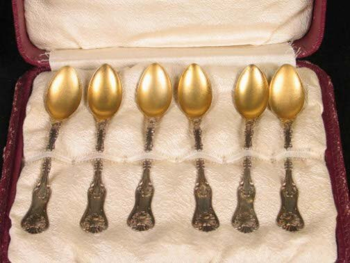 1593: 6 STERLING DEMITASSE SPOONS. Six Canadian sterlin