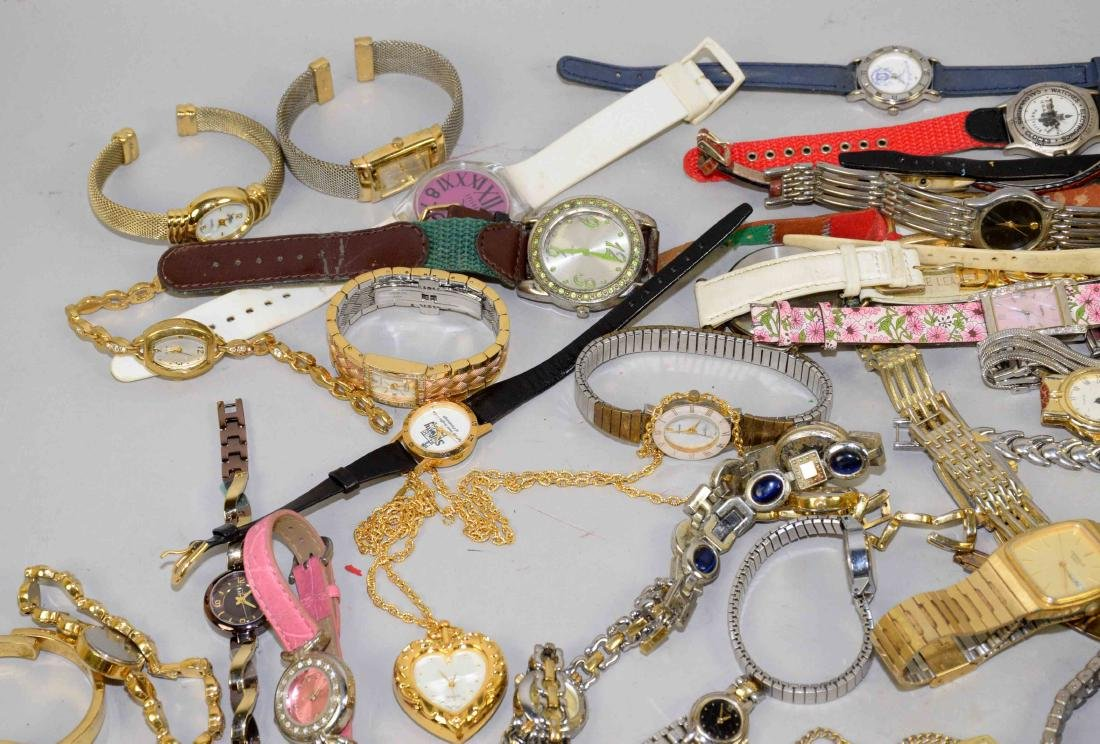 BIN OF ASSORTED LADIES AND MENS WATCHES. - 2