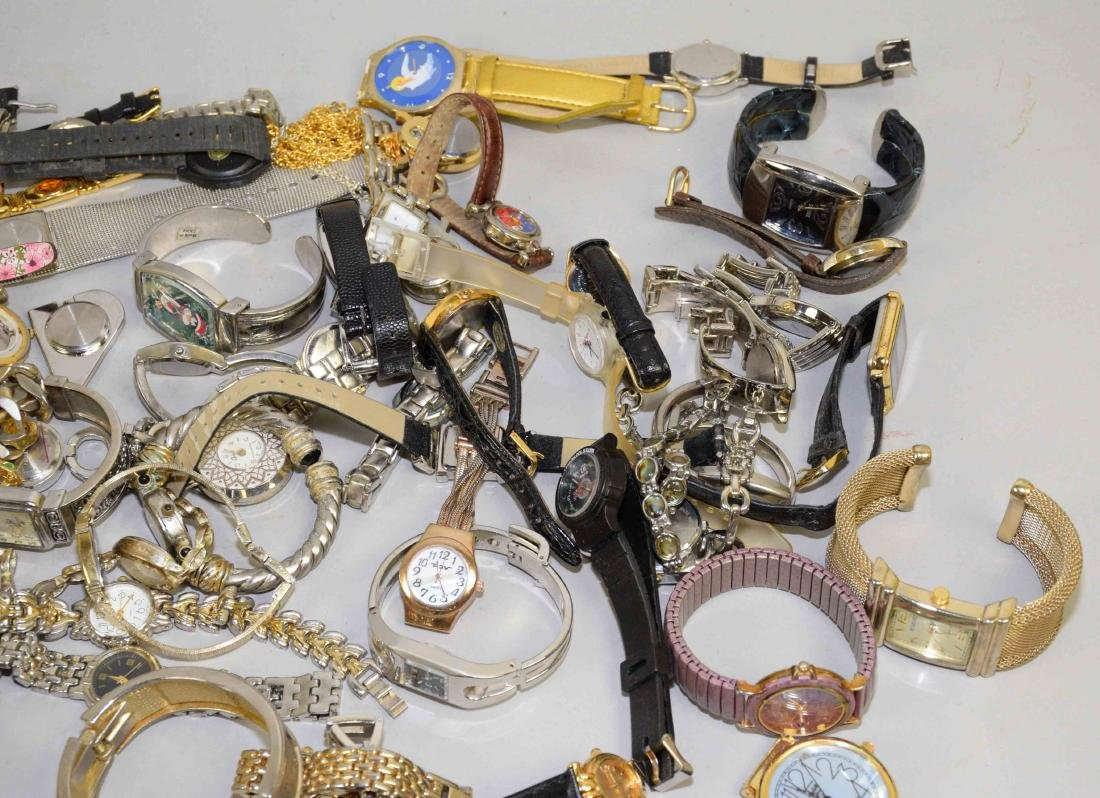 BIN OF ASSORTED LADIES AND MENS WATCHES. - 4