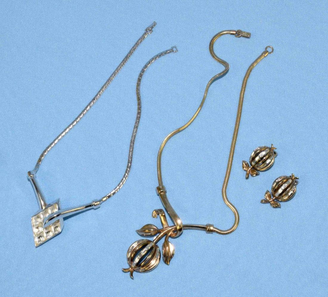 (3) PCS. VINTAGE CROWN TRIFARI JEWELRY. Includes gold