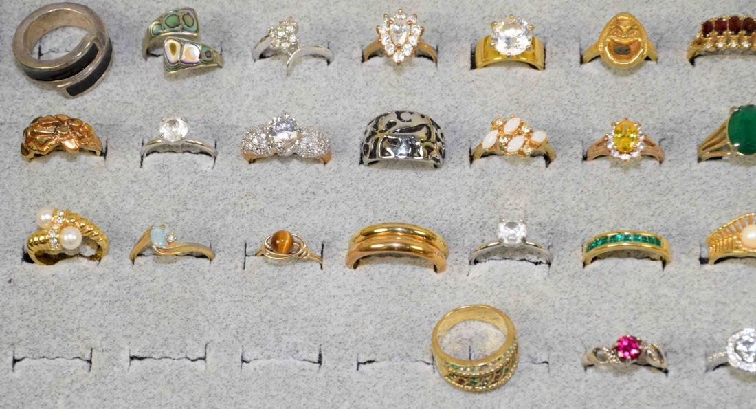 OVER 35 MISCELLANEOUS COCKTAIL RINGS, ALL DIFFERENT - 4