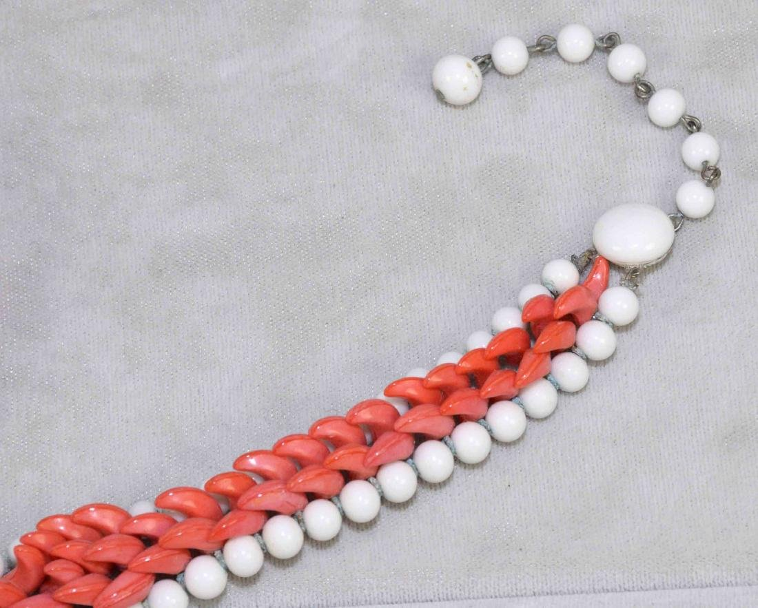 (9) PCS. OF ASST. CORAL JEWELRY. Includes: beaded - 4