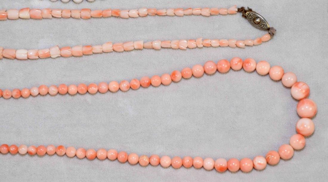 (9) PCS. OF ASST. CORAL JEWELRY. Includes: beaded - 5