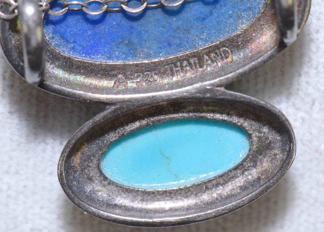 (8) PCS. ASST. STERLING, LAPIS AND TURQUOISE JEWELRY. - 6