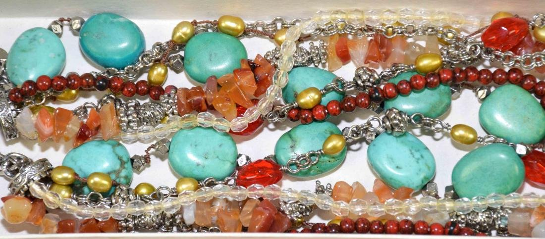 (10) PCS. ASST. CORAL, TURQUOISE, CRYSTAL AND OTHER - 3