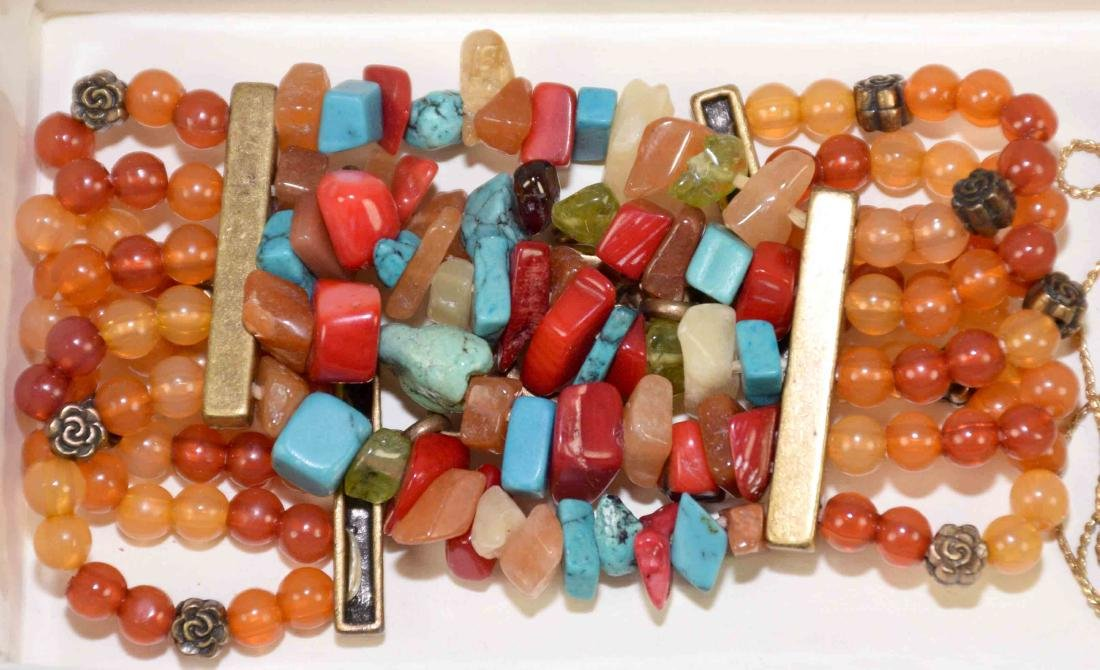 (10) PCS. ASST. CORAL, TURQUOISE, CRYSTAL AND OTHER - 5