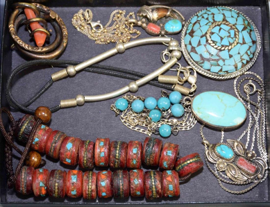 (10) PCS. ASST. CORAL, TURQUOISE, CRYSTAL AND OTHER - 6