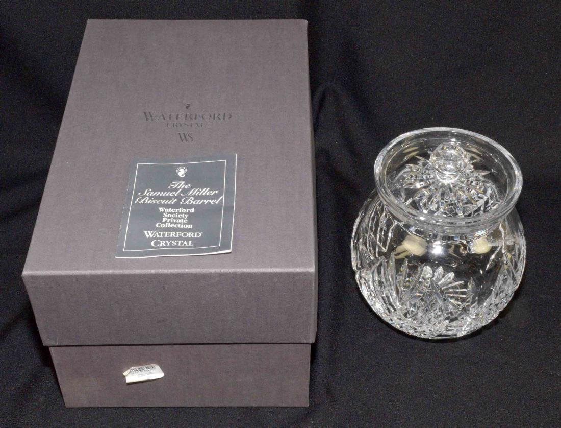 WATERFORD SEAHORSE CRYSTAL BISCUIT BARREL designed by