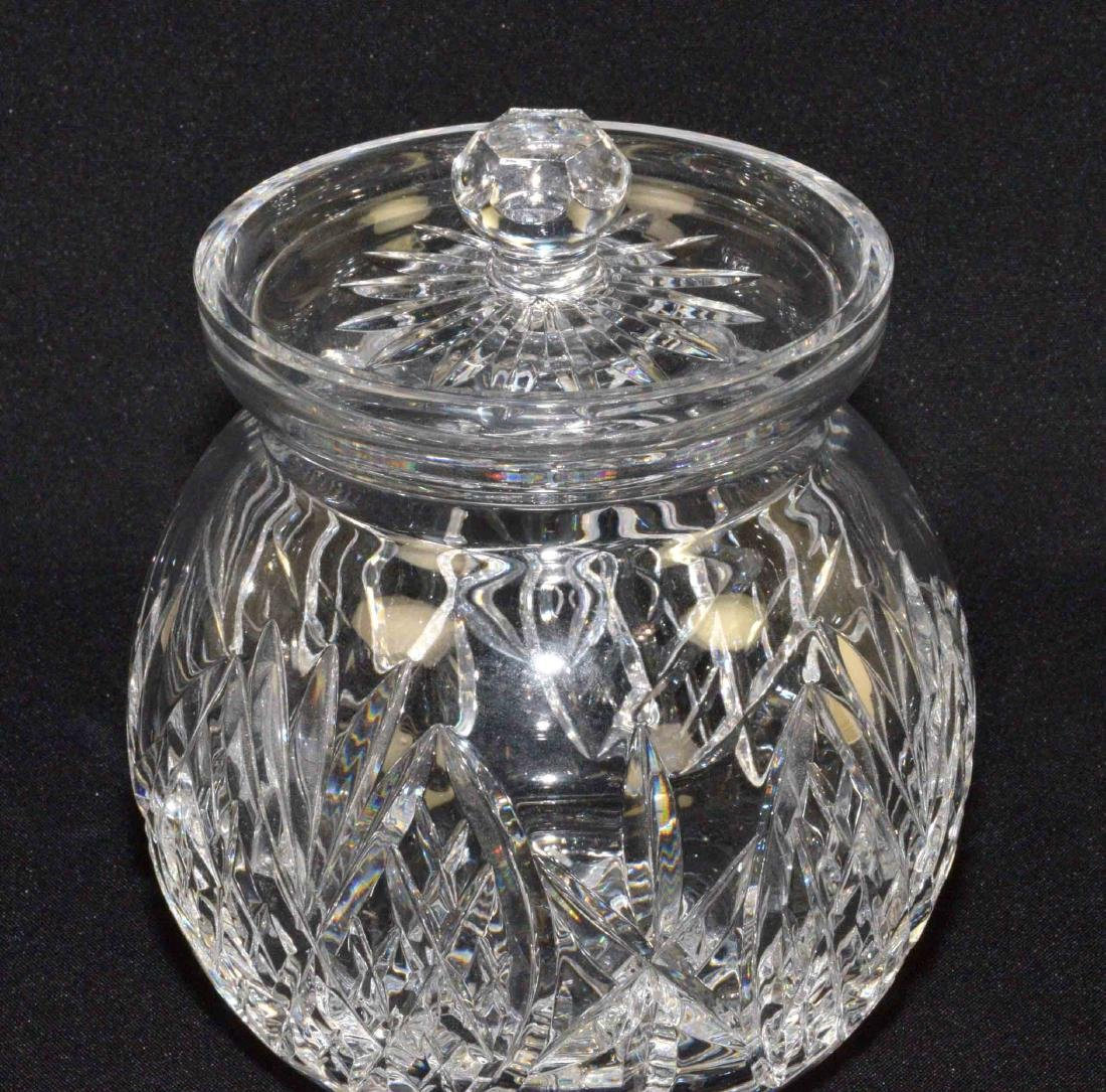 WATERFORD SEAHORSE CRYSTAL BISCUIT BARREL designed by - 2