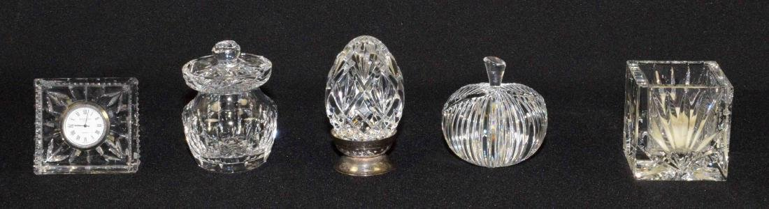 (5) WATERFORD CRYSTAL DECORATIVE PIECES: Candle votive