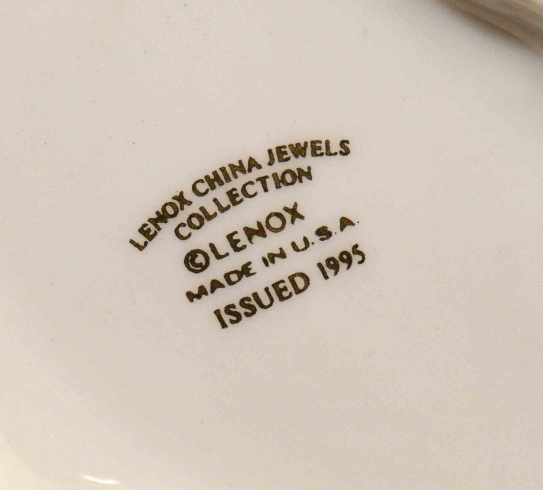 (2) LENOX CHINA JEWELS CAT FIGURINES: Cat quartz clock - 4