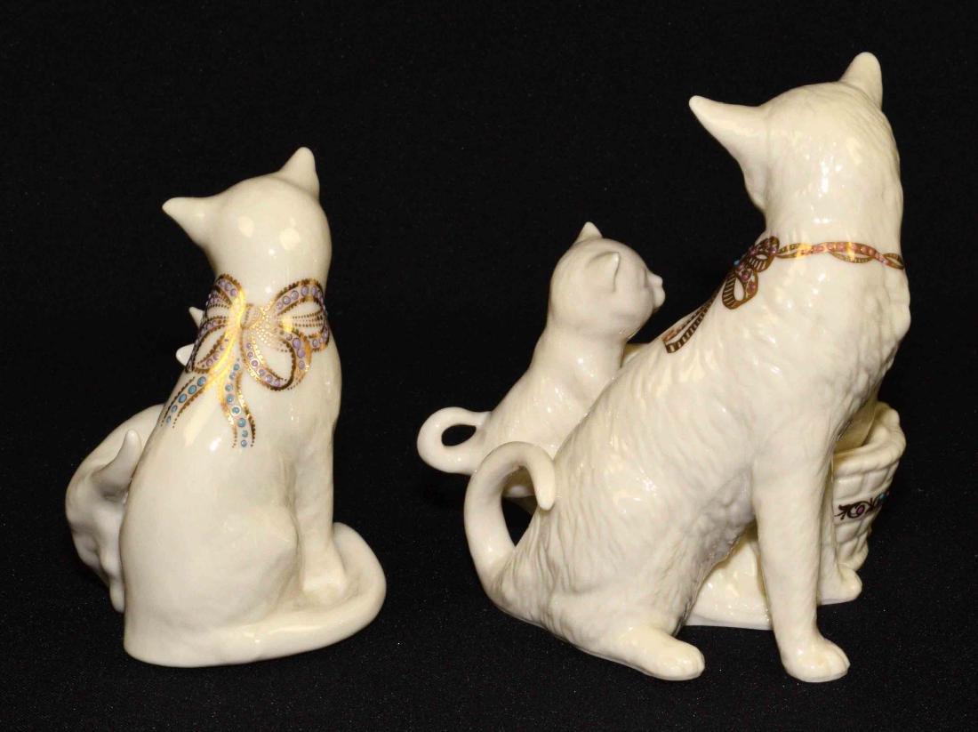 (2) LENOX CHINA JEWELS CAT FIGURINES: Kitten Kapers - 2