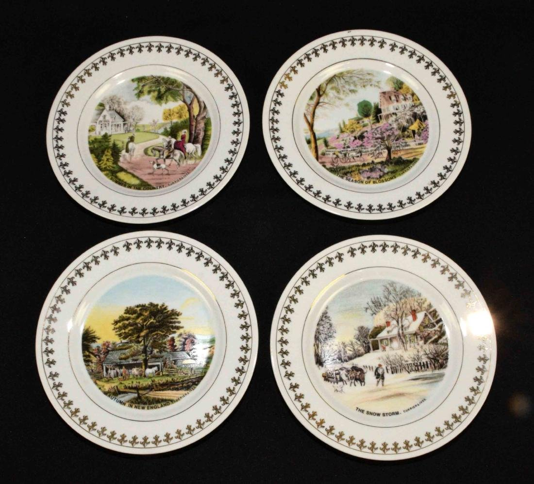 (4) CURRIER AND IVES LIMITED EDITION 1981 PLATES: The