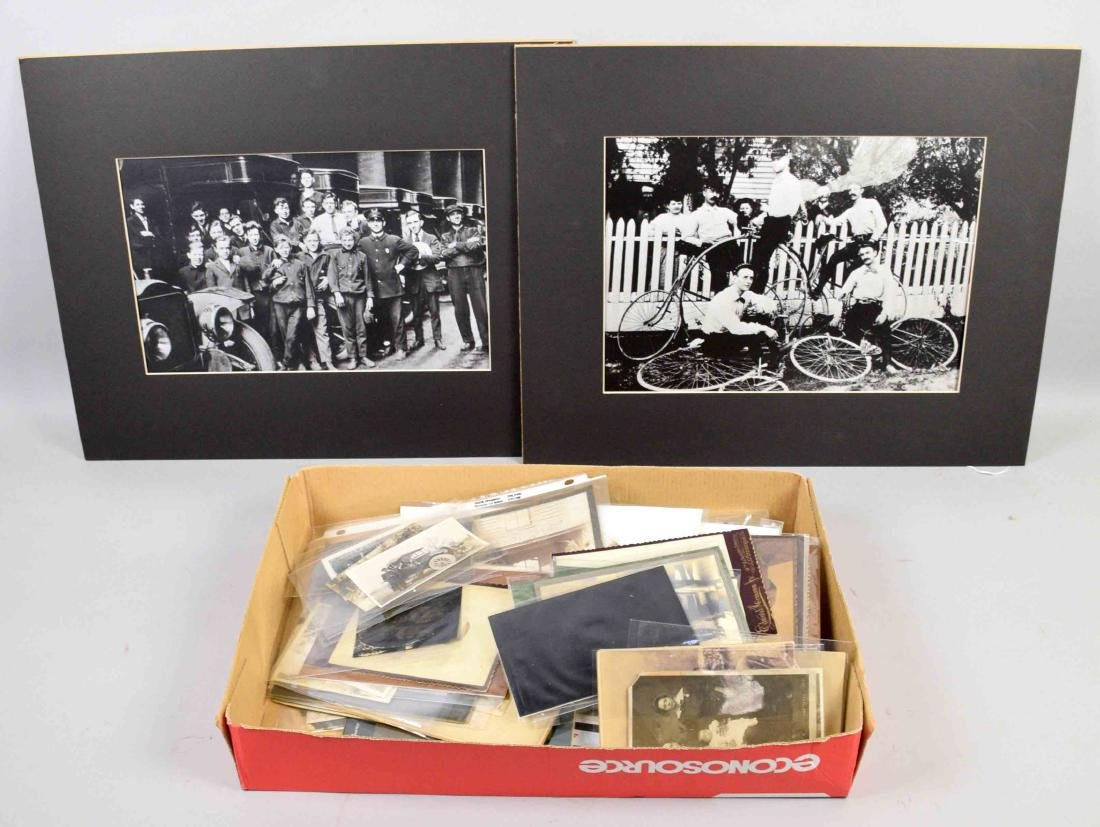 LARGE COLLECTION OF OLD PHOTOGRAPHS, largest 9.5''H x