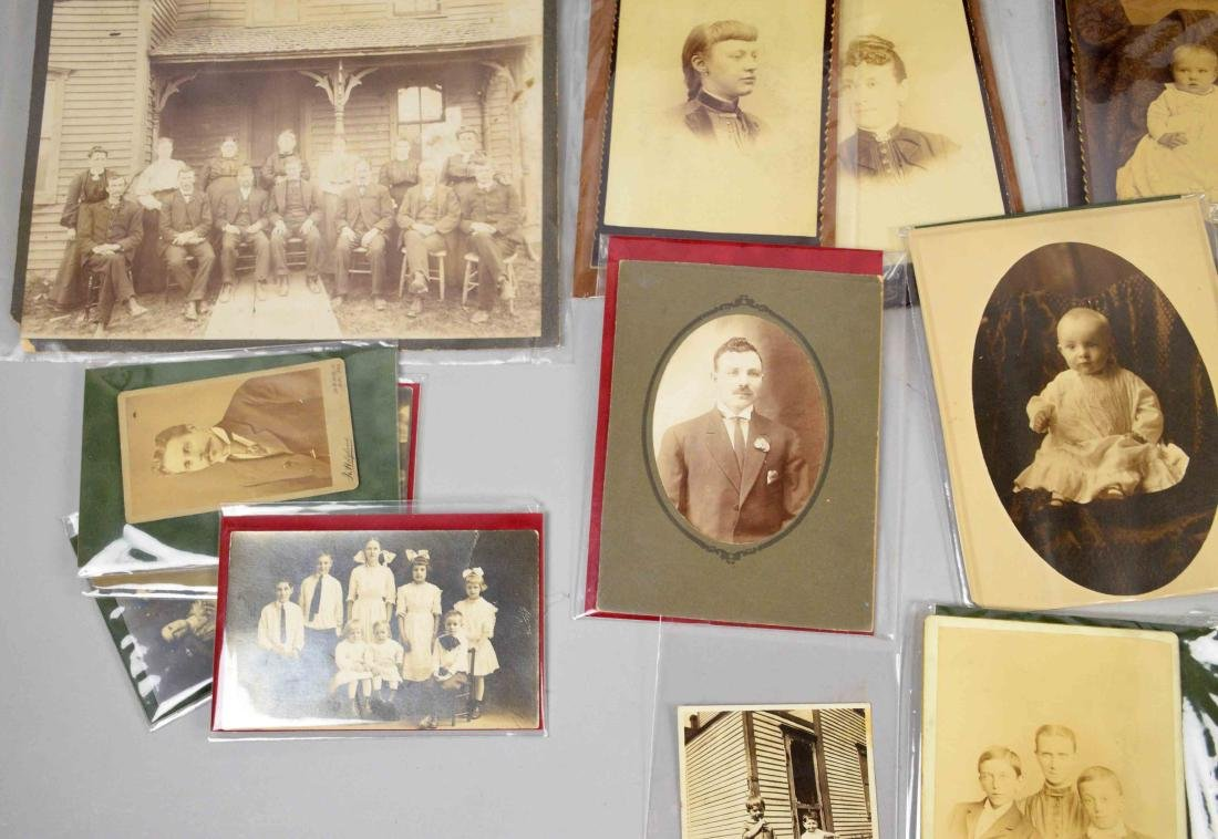LARGE COLLECTION OF OLD PHOTOGRAPHS, largest 9.5''H x - 4