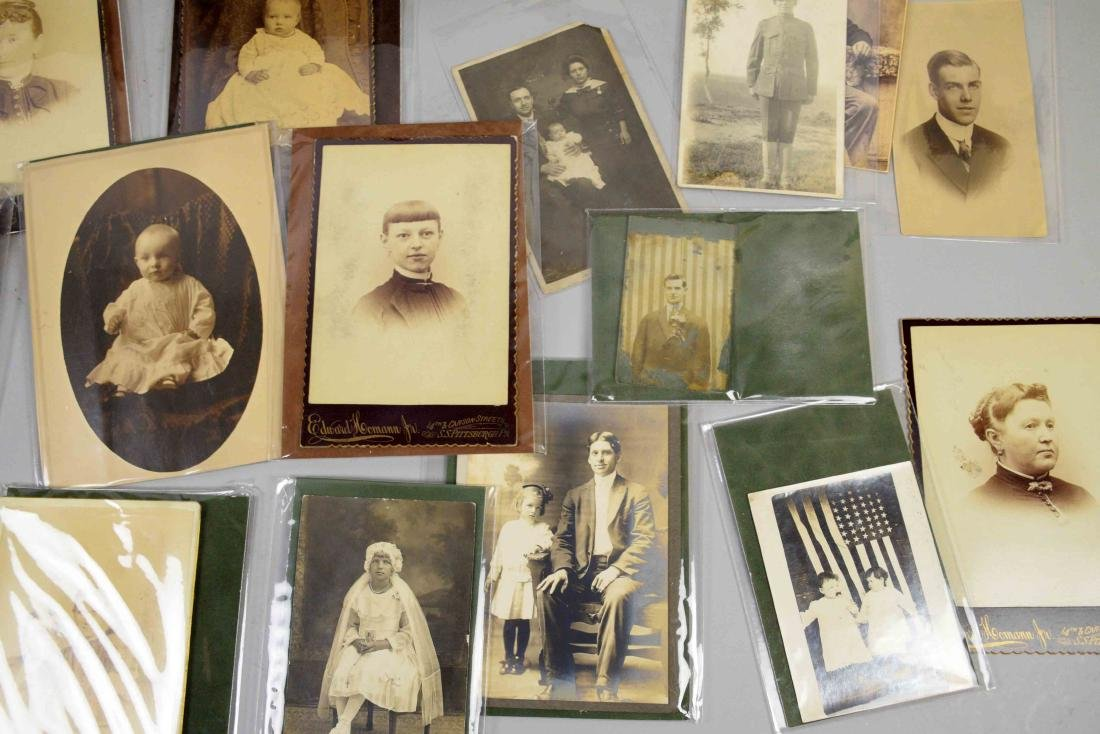 LARGE COLLECTION OF OLD PHOTOGRAPHS, largest 9.5''H x - 5