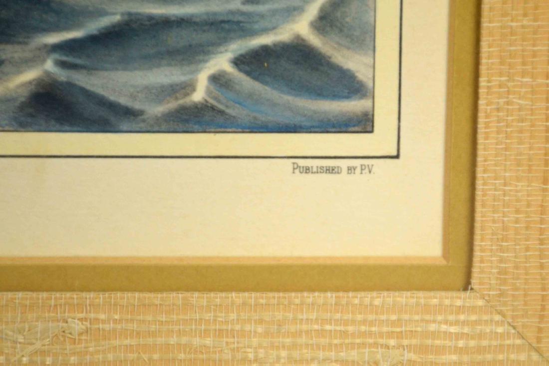 ''ARGO'' HAND COLORED MARITIME PRINT, 18''H x 24''W. - 4