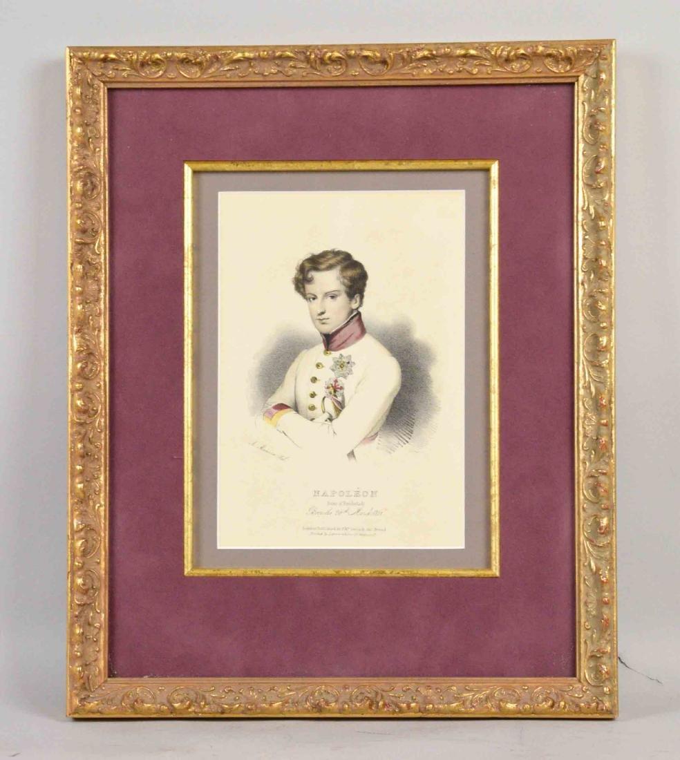 NAPOLEON PRINT, beautifully framed. 15''H x 12''W.