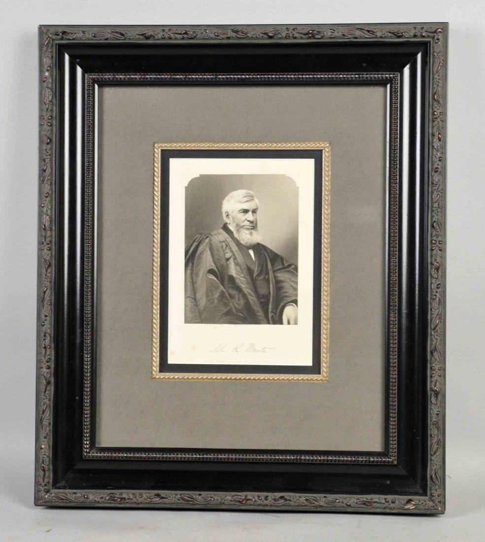 PRINT OF M.R. WAITE, Chief Justice of United States,