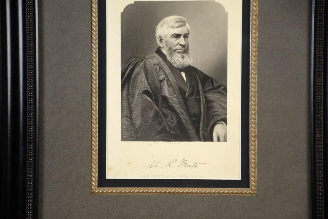 PRINT OF M.R. WAITE, Chief Justice of United States, - 2