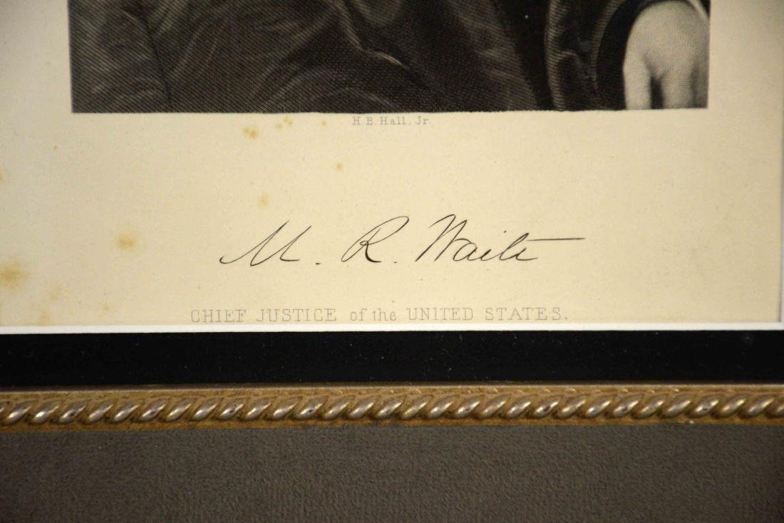 PRINT OF M.R. WAITE, Chief Justice of United States, - 4