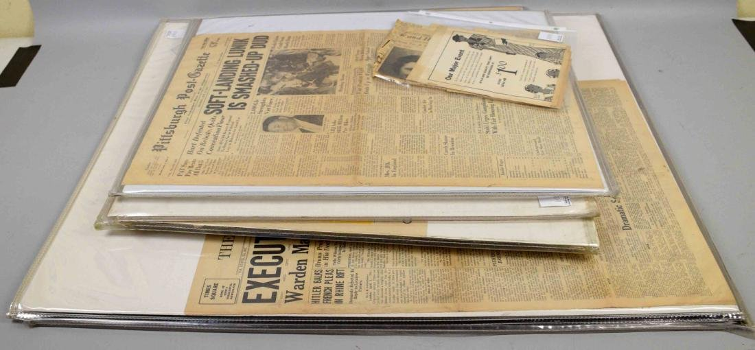 LARGE COLLECTION  OF NEWSPAPER EPHEMERA, including