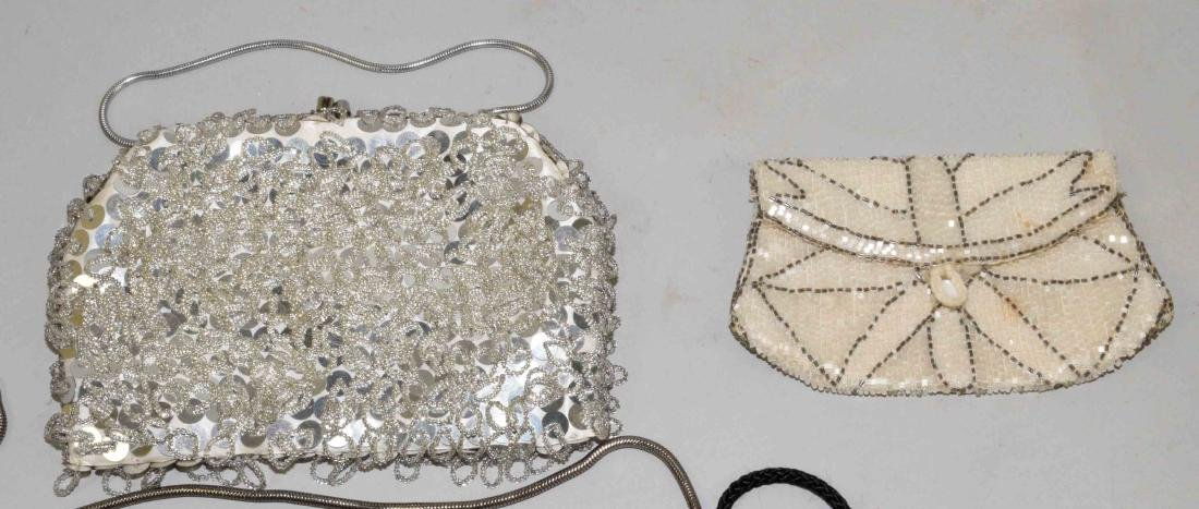 COLLECTION OF (5) HANDBAGS including beaded and mesh. - 2