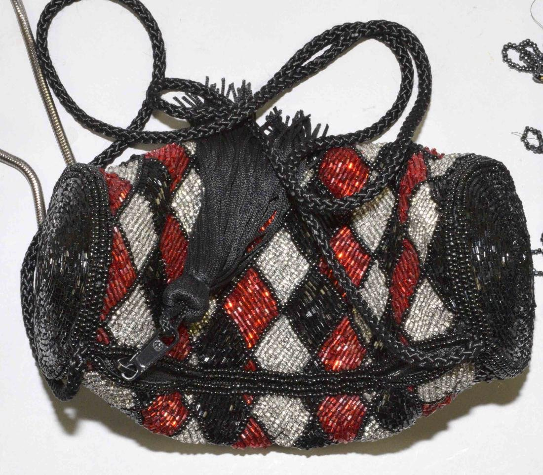 COLLECTION OF (5) HANDBAGS including beaded and mesh. - 4