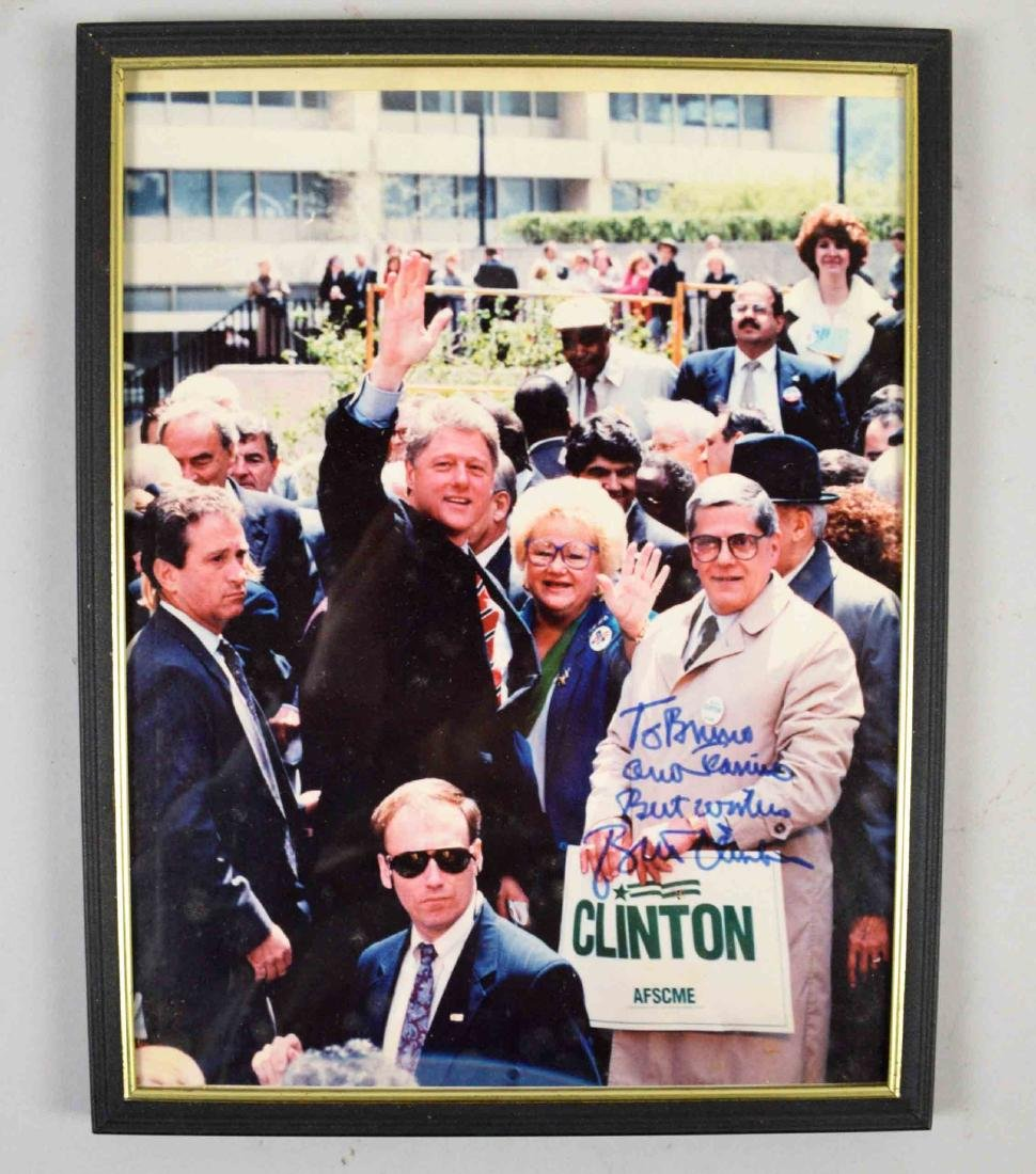 SIGNED BILL CLINTON PHOTO. 11''H x 8.5''W.