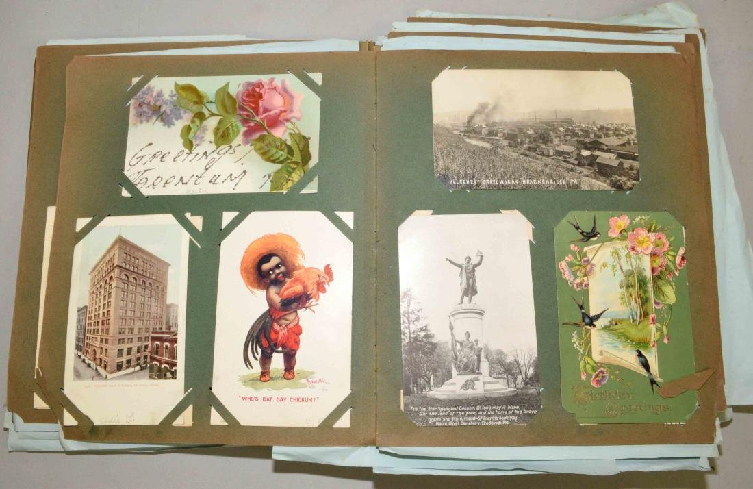COLLECTION OF POSTCARDS, including Thanksgiving, - 4