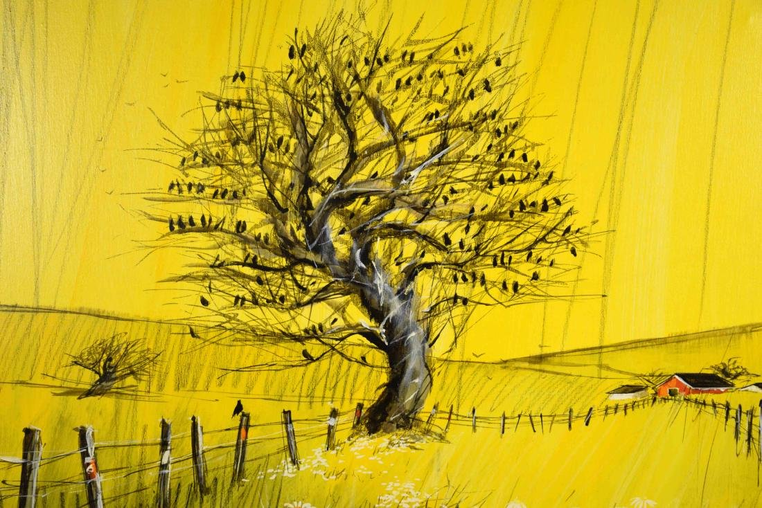 MCCANE ACRYLIC ON CANVAS, The Birds. 40''H x 40''W. - 2