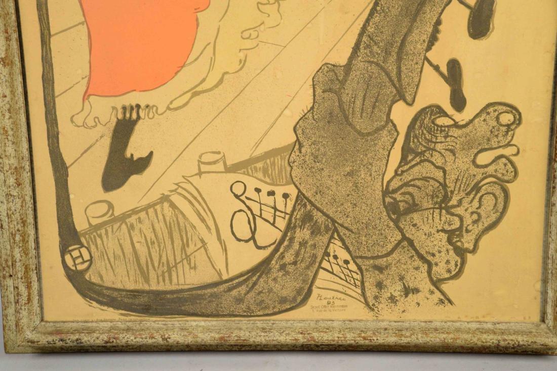 LAUTREC POSTER JANE AVRIL. 30''H x 24''W. - 3