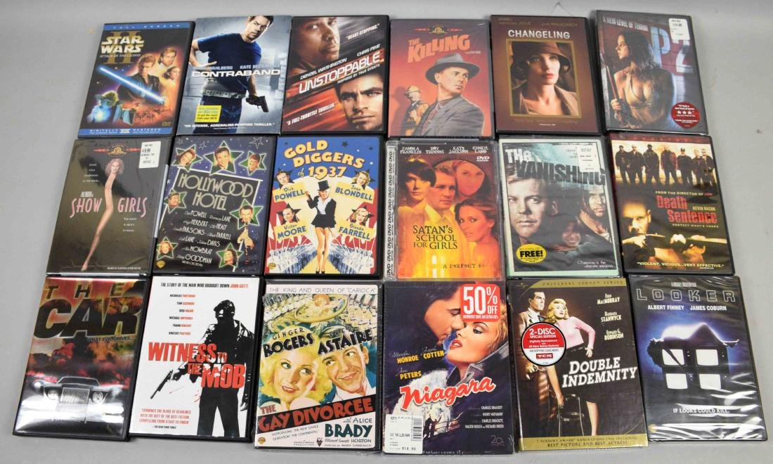 DVD MOVIE COLLECTION, 28 DVDs including Star Wars,