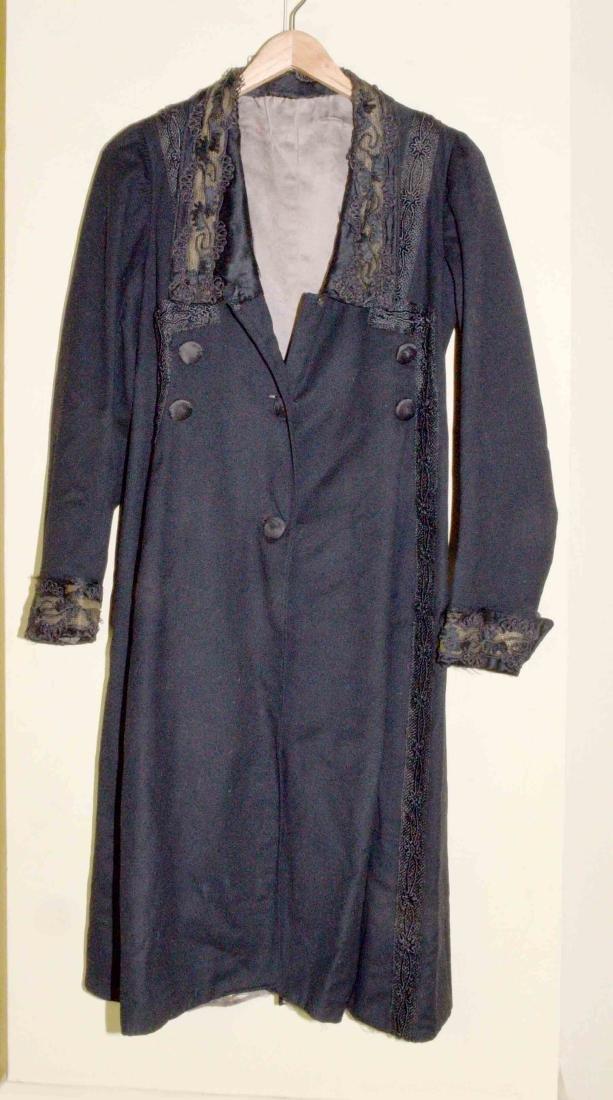 VICTORIAN ERA CONDUCTOR'S COAT, mid 19th C. Heavy black