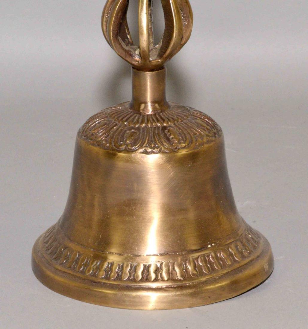 TIBETAN BUDDHIST BELL.  Approximate size, 10''. - 3