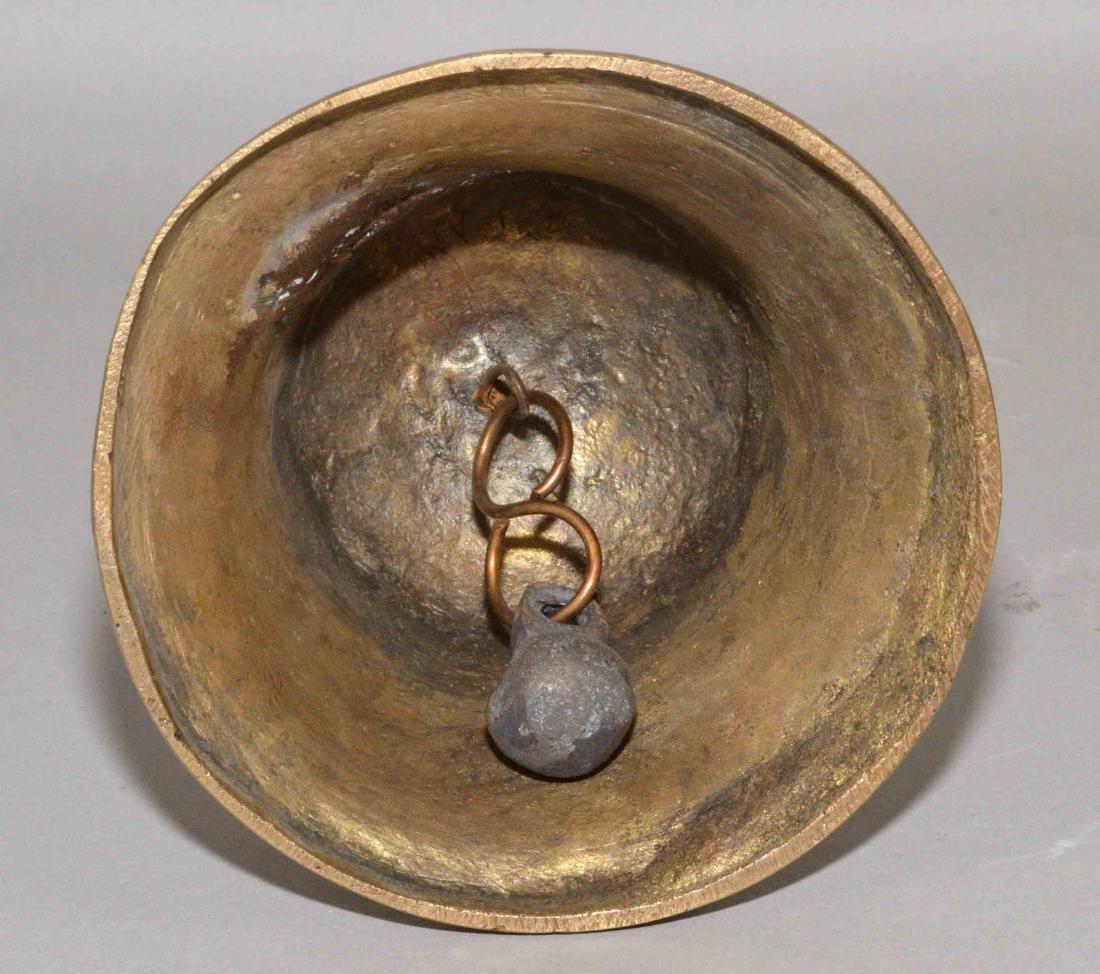 TIBETAN BUDDHIST BELL.  Approximate size, 10''. - 4